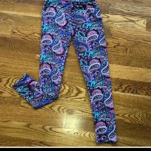 Paisley printed leggings